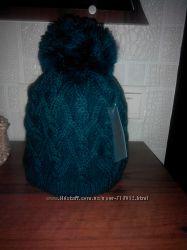 Крутая тёплая шапка крупной вязки