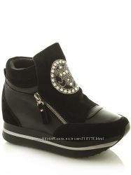 Женские демисезонные ботинки-сникерсы Lifexpert