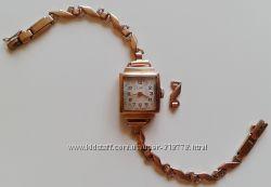 Легендарные винтажные золотые часы Luch