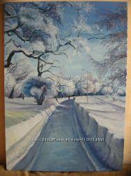 Авторская работа  Зимний пейзаж