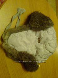 Очень теплая шапка с мехом кролика