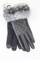 Женские перчатки с мехом 531