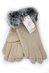 Перчатки с мехом 532
