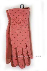 Стильные сенсорные женские перчатки коралл 536