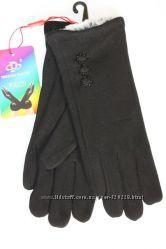 Женские стрейчевые перчатки Эмилия Кролик R12013