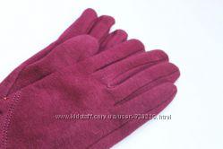 Женские перчатки из стрейча Рубина БОРДОВЫЕ  1506
