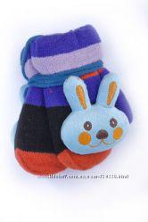 Детские варежки с мягкой игрушкой w092