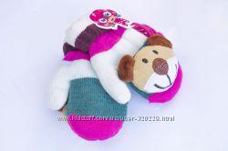 Детские варежки с мягкой игрушкой w094