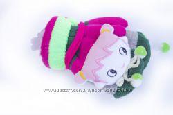 Детские варежки с мягкой игрушкой w096