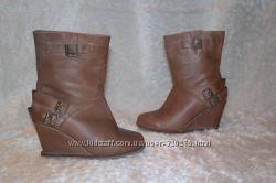Ботинки, ботильоны 36-37 р-р кожа