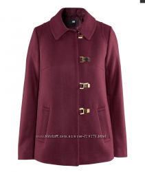 полу пальто цвета марсала, Н&M XS-S