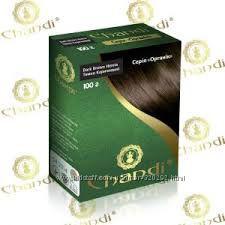 Краска для волос Chandi органик. Тёмно-коричневый цвет 100г