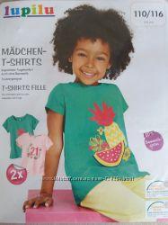 Lupilu набор футболок для девочки 110-116 Германия