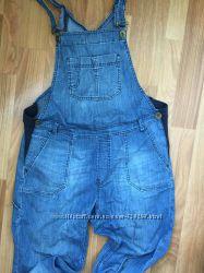 Джинсы комбинезон платье для беременной Mothercare