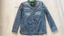Джинсовая рубашка Манго