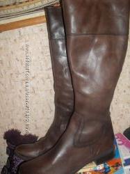 кожаные сапоги 42 размер 28см Италия