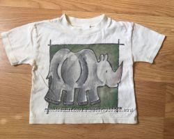 2 футболки, майка и регланчик на ребёнка до 2-х лет