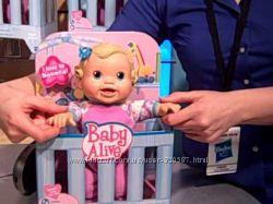 Кукла  Baby Alive Bouncin Babbles Doll интерактивная блондинка
