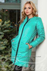 Зеленая куртка пальто