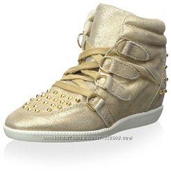 Замшевые сникерсы хайтопы Schutz Belize High Top Sneaker Оригинал США