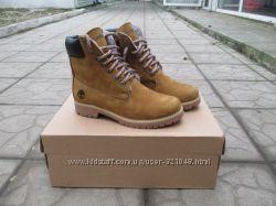 Женские зимние ботинки TIMBERLAND кожаные 3 цвета в наличии