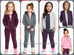 Новые спортивные  костюмы, штанишки, кофты с начёсом H&M от 1, 5 до 10 лет
