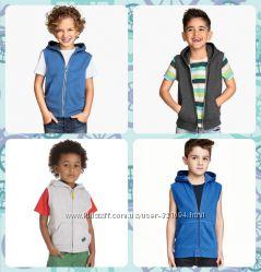 Новые трикотажные жилетки с капюшоном H&M, MOTHERCARE от 1, 5 до 10 лет