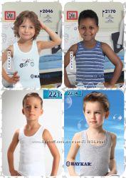 Новые майки для мальчика белые и цветные Baykar