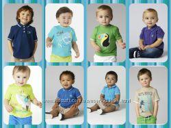 Новые футболки, поло на любой вкус MOTHERCARE р. от 1 года до 6 лет