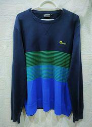 Свитер, пуловер, джемпер мужской, синий, зеленый, 48/50, M/L