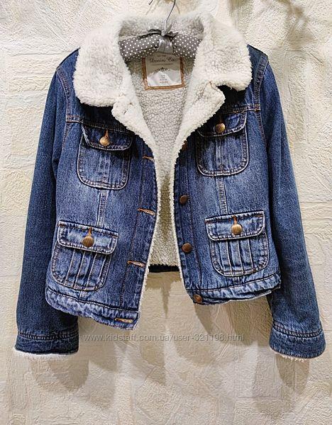 Куртка джинсовая, базовая, универсальная, утеплённая, М-ка