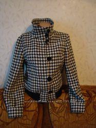 Шерстяная куртка-пальто гусиные лапки