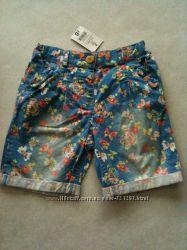 Красивые, легкие коттоновые шорты  для девочек, , Англия
