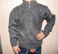 Распродажа, Кофта вязаная на змейке для мальчика 3-4 лет. Турция