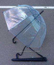 Прозрачный зонт трость Стекляный купол в чехле