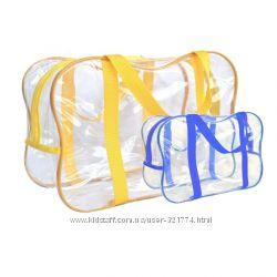 Прозрачная сумка в роддом, пакеты для роддома