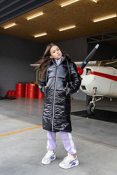 Тепла зимова куртка -пальто 158-164