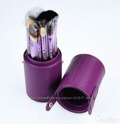 Кисти в тубусе 12 шт фиолетовые  В  наличии