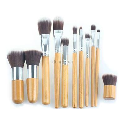 Кисти 11 шт с бамбуковыми ручками