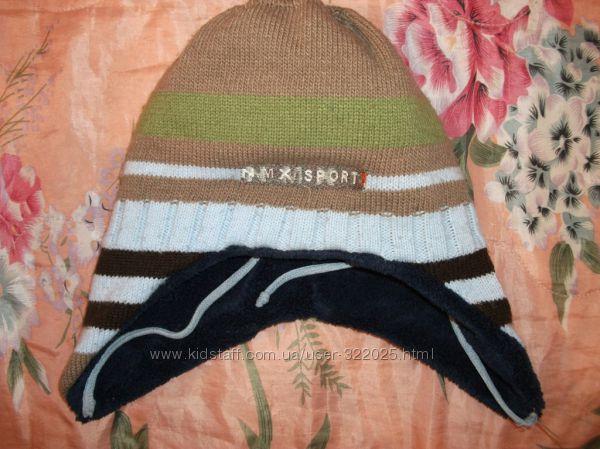 Шапка шапочка демисезонная кепка D. Star 54 р. зимняя теплая 6 7 8 лет шарф