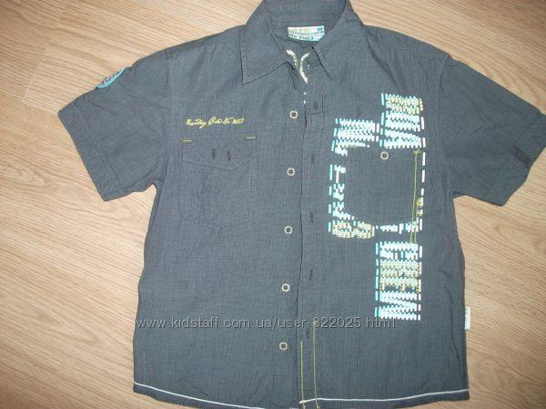 Стильная рубашка Wojcik Войчик на рост 134, 100 хлопок плюс подарок