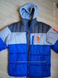 Модная стильная куртка на мальчика 10-12 лет от US Polo Assn оригинал