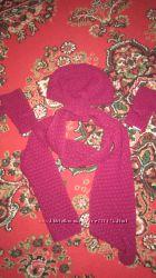 Шапка, шарф, митенки
