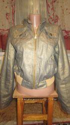 Куртка, джинс с напылением