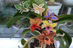Резинки для волос с орхидеями