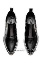 Кожаные лоферы, туфли, ботинки Премиум качество от  H&M размер 37