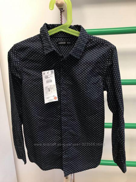Стильная фирменная рубашка Reserved 122 см хлопок