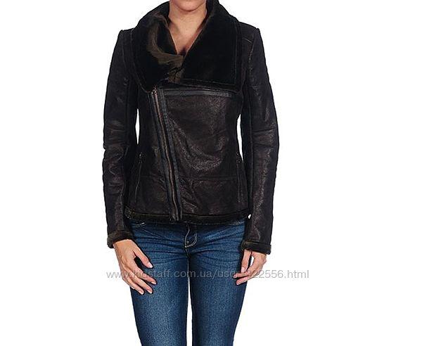 Французская теплая кожаная куртка дубленка ISACO
