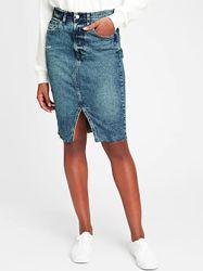 Шикарная джинсовая юбка GAP размер 28/М