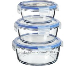 Набор контейнеров стекло Luminarc Pure Box с крышк кругл. 420мл. 670мл. 920мл